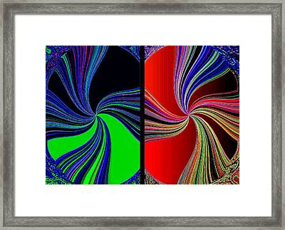Abstract Fusion 270  Framed Print by Will Borden