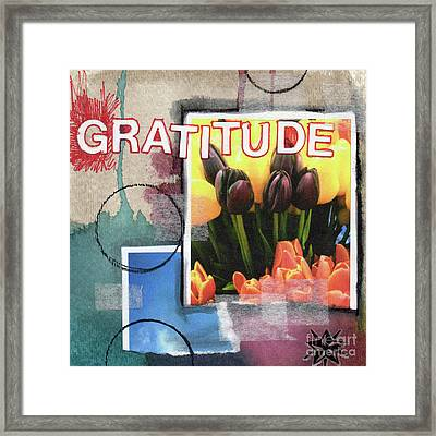 Abstract Gratitude Framed Print by Linda Woods