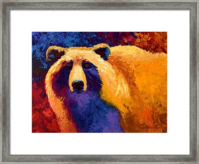 Abstract Grizz II Framed Print by Marion Rose