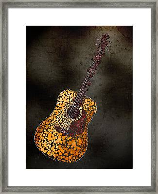 Abstract Guitar Framed Print by Michael Tompsett