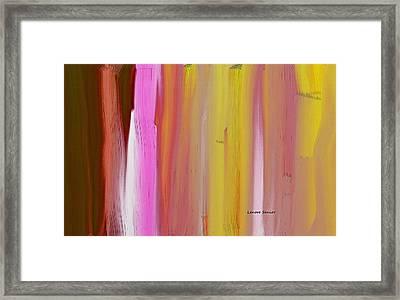 Abstract Horizontal Framed Print by Lenore Senior