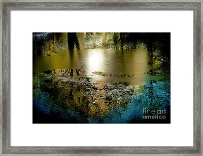 Abstract Ice Framed Print by Camilla Cherry