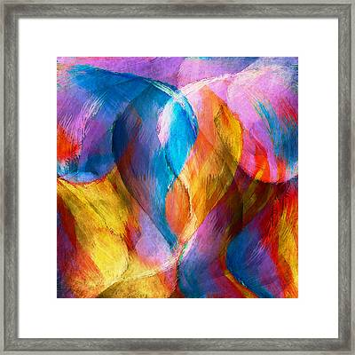 Abstract In Aqua Framed Print by Brenda Bryant