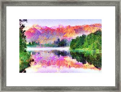 Abstract Landscape 0743 Framed Print by Rafael Salazar