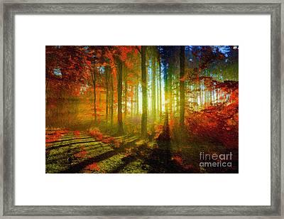 Abstract Landscape 0745 Framed Print by Rafael Salazar