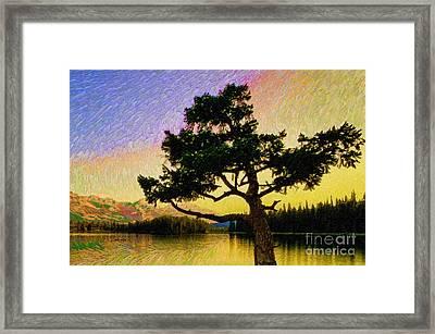 Abstract Landscape 0750 Framed Print by Rafael Salazar