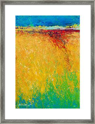 Abstract Landscape 1 Framed Print by Marion Rose