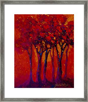 Abstract Landscape 2 Framed Print by Marion Rose