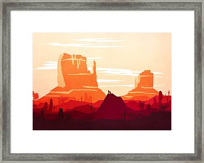 Abstract Landscape Desert Art 10 - By Diana Van Framed Print by Diana Van