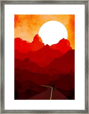 Abstract Landscape Mountain Road 3 - By Diana Van Framed Print by Diana Van