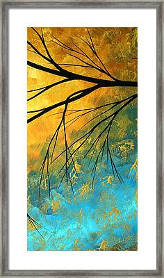 Abstract Landscape Art Passing Beauty 2 Of 5 Framed Print by Megan Duncanson
