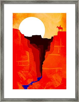 Abstract Landscape Canyon Art 6 - By Diana Van Framed Print by Diana Van