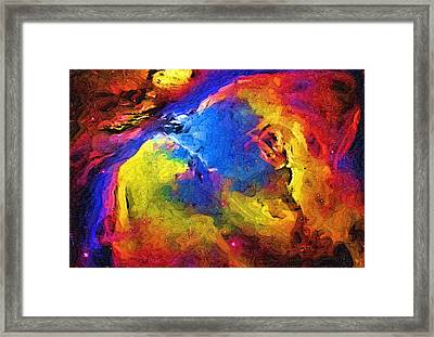 Abstract Landscape Framed Print by Gina Roseanne