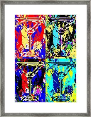 Abstract Martini's Framed Print by Jon Neidert