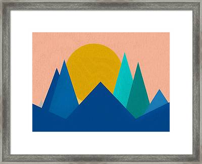 Abstract Mountain Sunset Framed Print by Dan Sproul