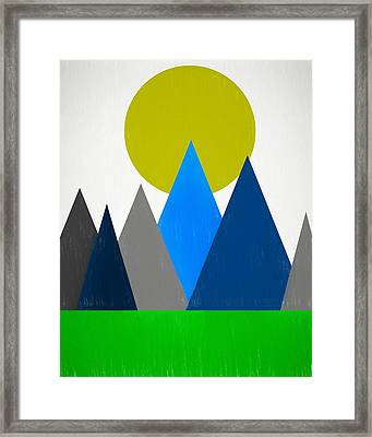 Abstract Mountains Landscape Framed Print by Dan Sproul