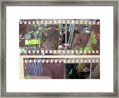 Abstract Movie 2 Framed Print by David Studwell