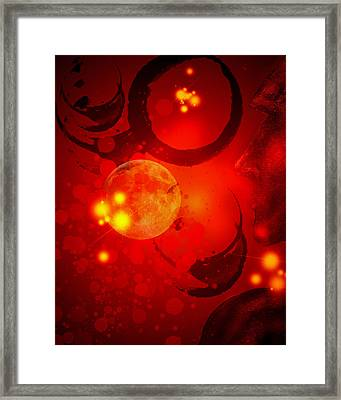 Abstract-nebula Framed Print by Patricia Motley