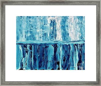 Abstract Niagra Falls Framed Print by Marsha Heiken