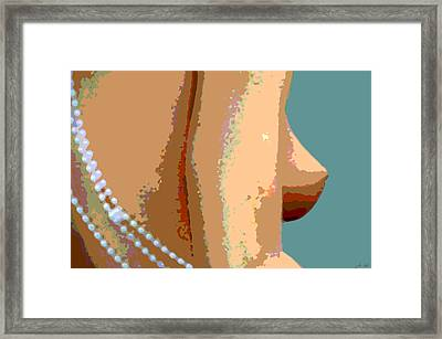 Abstract Nude Framed Print by JoAnn Lense