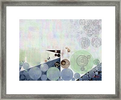 Abstract Painting - Athens Grey Framed Print by Vitaliy Gladkiy