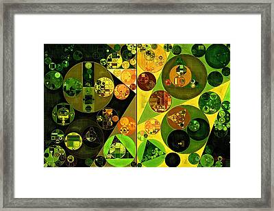 Abstract Painting - Barberry Framed Print by Vitaliy Gladkiy