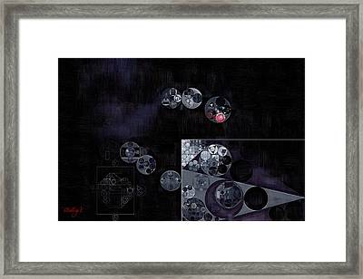 Abstract Painting - Black Framed Print by Vitaliy Gladkiy
