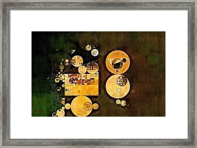 Abstract Painting - Caffe Noir Framed Print by Vitaliy Gladkiy