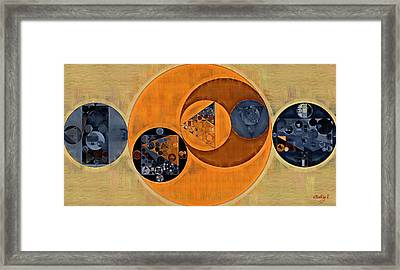 Abstract Painting - Cinnamon Framed Print by Vitaliy Gladkiy