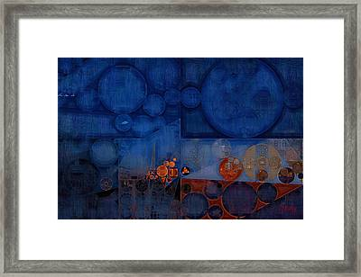 Abstract Painting - Cool Black Framed Print by Vitaliy Gladkiy