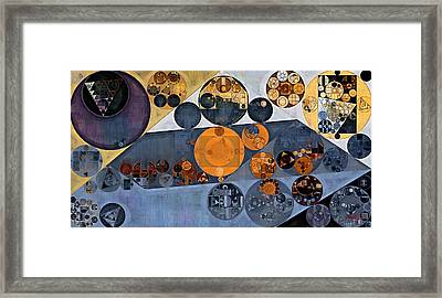 Abstract Painting - Cool Grey Framed Print by Vitaliy Gladkiy