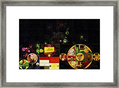 Abstract Painting - Cream Can Framed Print by Vitaliy Gladkiy