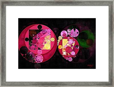 Abstract Painting - Deep Carmine Framed Print by Vitaliy Gladkiy