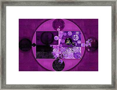 Abstract Painting - Deep Fuchsia Framed Print by Vitaliy Gladkiy