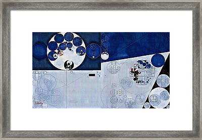 Abstract Painting - Echo Blue Framed Print by Vitaliy Gladkiy