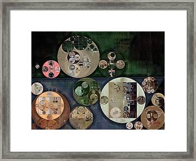 Abstract Painting - Grullo Framed Print by Vitaliy Gladkiy