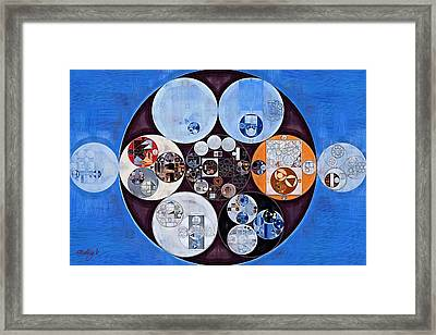 Abstract Painting - Han Blue Framed Print by Vitaliy Gladkiy