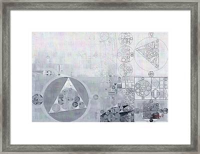 Abstract Painting - Hit Grey Framed Print by Vitaliy Gladkiy