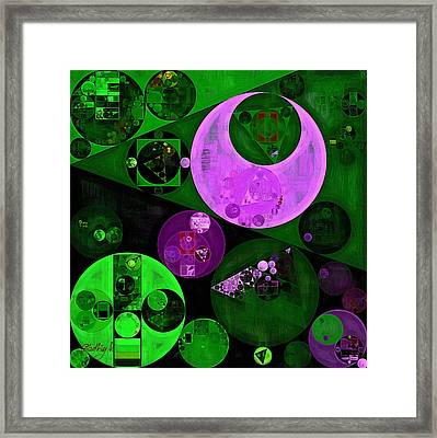 Abstract Painting - Islamic Green Framed Print by Vitaliy Gladkiy