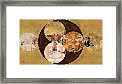 Abstract Painting - New Tan Framed Print by Vitaliy Gladkiy