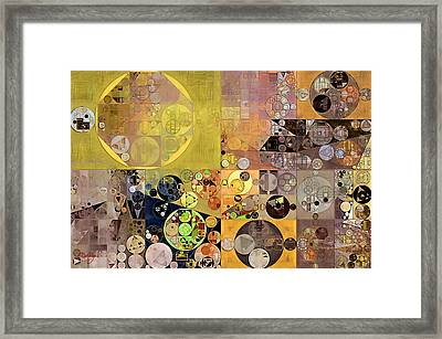 Abstract Painting - Pale Brown Framed Print by Vitaliy Gladkiy