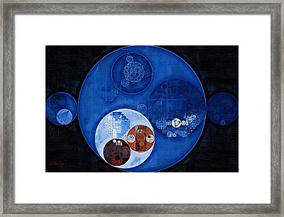 Abstract Painting - Pale Cerulean Framed Print by Vitaliy Gladkiy