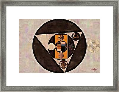 Abstract Painting - Pale Taupe Framed Print by Vitaliy Gladkiy