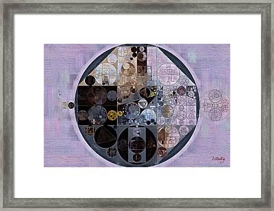 Abstract Painting - Pastel Purple Framed Print by Vitaliy Gladkiy