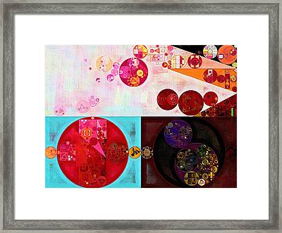 Abstract Painting - Persian Plum Framed Print by Vitaliy Gladkiy