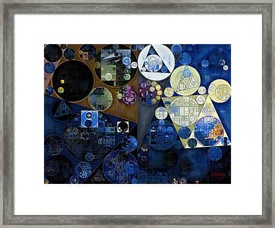 Abstract Painting - Port Gore Framed Print by Vitaliy Gladkiy