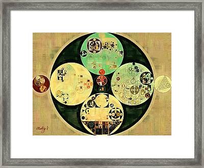 Abstract Painting - Sandwisp Framed Print by Vitaliy Gladkiy