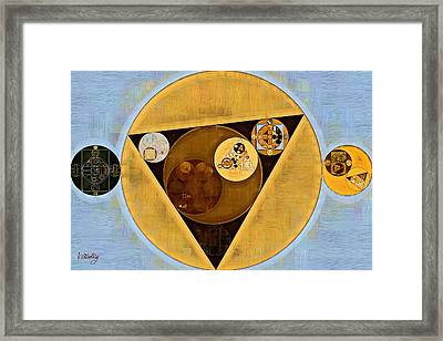 Abstract Painting - Satin Sheen Gold Framed Print by Vitaliy Gladkiy