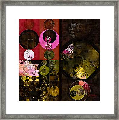 Abstract Painting - Tonys Pink Framed Print by Vitaliy Gladkiy