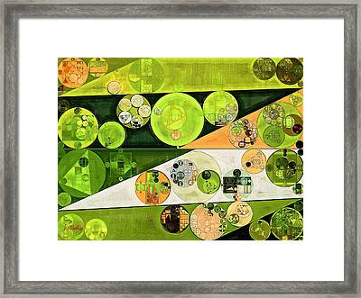 Abstract Painting - Turtle Green Framed Print by Vitaliy Gladkiy